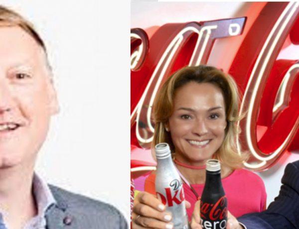 Damian Gammell,Sol Daurella y John Brock, Coca-Cola European Partners programapublicidad,