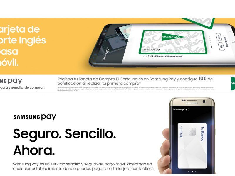La tarjeta de El Corte Inglés se suma al pago por móvil de
