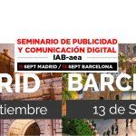 Seminario de Publicidad y Comunicación Digital aea/IAB el 11 y 13 septiembre