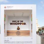 BURGER KING regalará Whoppers para celebrar su llegada a Instagram en España