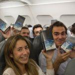 """Samsung culmina su campaña """"Bienvenido a bordo Galaxy Note8"""" obsequiándolo en un vuelo de Iberia."""