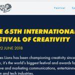 Cannes Lions, alcanzará su edición del 2018 con más de 4.000 agencias y anunciantes.