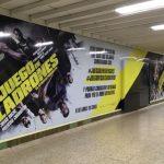 Ymedia vinila la estación de Metro de Santiago Bernabéu para el estreno de Diamond Films