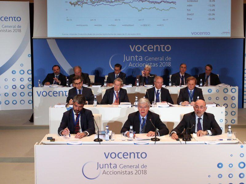 junta accionistas vocento, bergareche, enriquez, 2018, programapublicidad