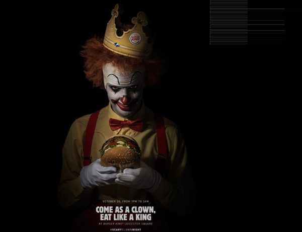 BK, Scary, CLOWN, LOLA MULLENLOWE, Madrid , BURGER KING, SPAIN #CannesLions18, grand prix, programapublicidad