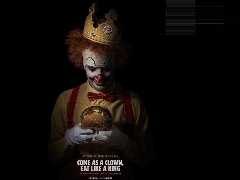 BK, Scary, CLOWN, LOLA MULLENLOWE, Madrid , BURGER KING, SPAIN #CannesLions18, grand prix, programapublicidad