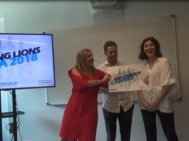 Irene Montón , Jesús González,, young lions, media 2018, programapublicidad, muy grande