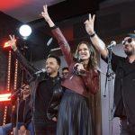 'La Voz',Antena 3, da concierto sorpresa en Callao con Luis Fonsi y Antonio Orozco, coaches del programa