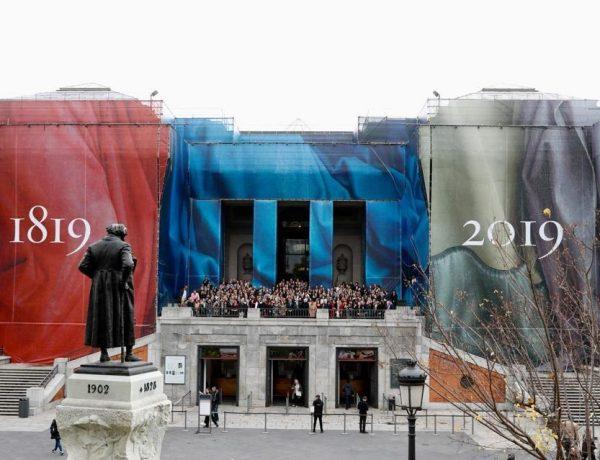 fachada Del Prado, vestida para , Bicentenario, programapublicidad muy grande