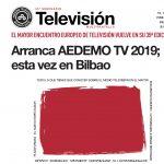 La 35º edición del Seminario de Televisión Multipantalla. AEDEMO TV 2019 vuelve a Bilbao