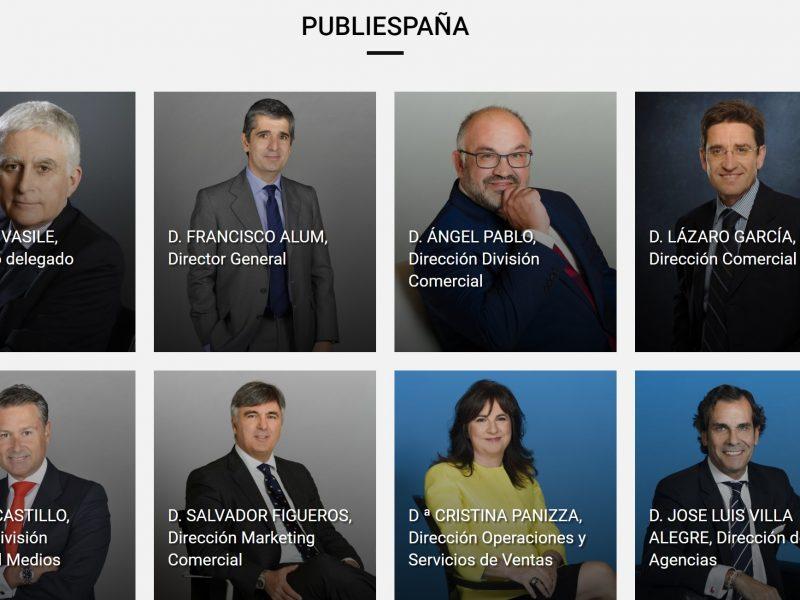 cuadro, directivo, publiespaña, programapublicidad muy grande