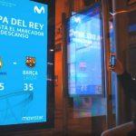 Movistar y JCDecaux sacaron a las calles la final de Copa del Rey de baloncesto