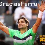 El Mutua Madrid Open homenajea a David Ferrer en último torneo de su carrera