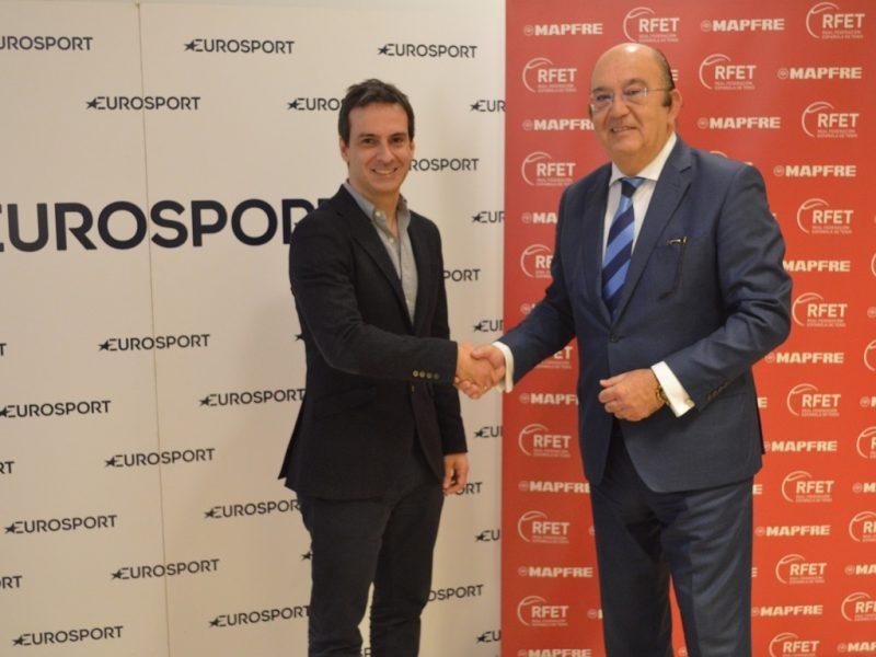 Antonio Ruiz, Director General ,Discovery , España , Portugal, Miguel Díaz Román, Presidente , RFET, programapublicidad,