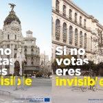 El Parlamento Europeo lanza la campaña  'Si no votas eres invisible»