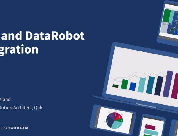 Qlik ,DataRobot ,Integration, programapublicidad