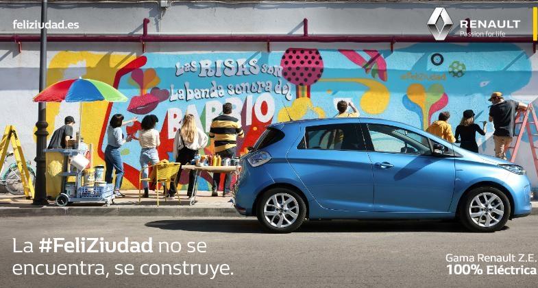 Renault lanza 'FeliZiudad' en Spotify, la primera campaña 'Happy Targeting' en España