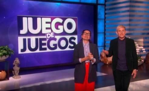 Silvia Abril ,Ellen DeGeneres, presentadoras , Juego de juegos', programapublicidad, muy grande