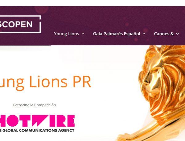 Young Lions PR scopen, hotwire, programapublicidad,
