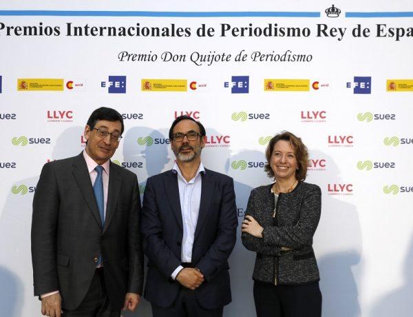 Arturo Pinedo, Socio ,Director General Regional , LLYC; Fernando Gareda, Presidente , Agencia EFE , Luisa García, Socia , Directora General Regional ,LLYC, programapublicidad,