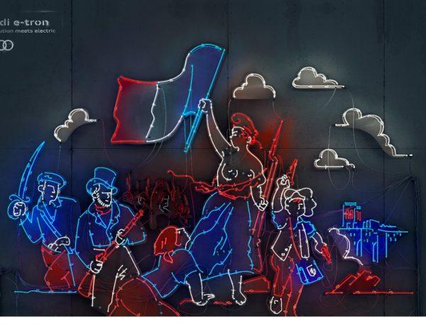 DDB España , reimagina , revoluciones , campaña , Audi e-tron, revolucion francesa, programapublicidad,