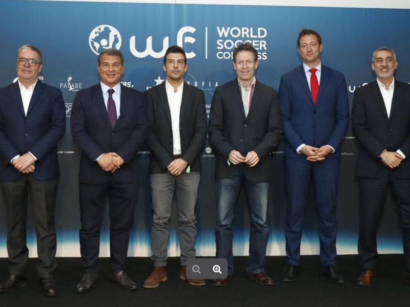 World Soccer Congress ,Barcelona. Ramón Robert, patrocinio, programapublicidad
