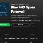 El lunes 29 de abril Blue 449 celebrará ser Spark Foundry con lista en Spotify.