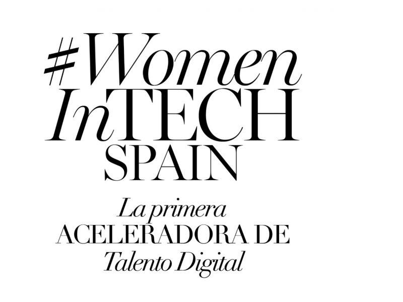 #WomenInTechSpain, ejecutivas digitales , acabar , brecha digital, programapublicidad,