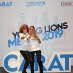 Mónica Castilla y María Roca, (CARAT España) representantes España, en Young Lions Media 2019