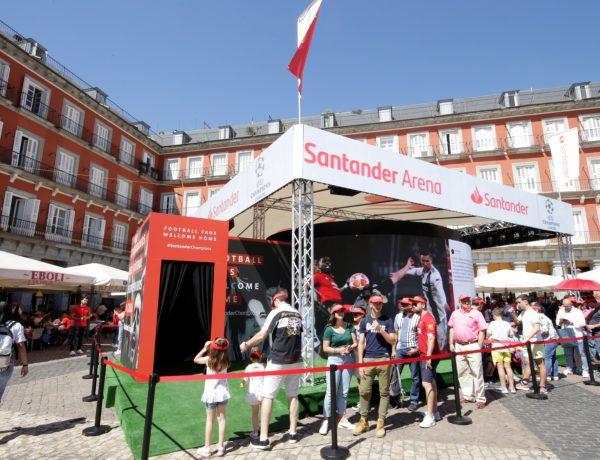 stand, santander arena, plaza mayor, champions, madrid, programapublicidad,