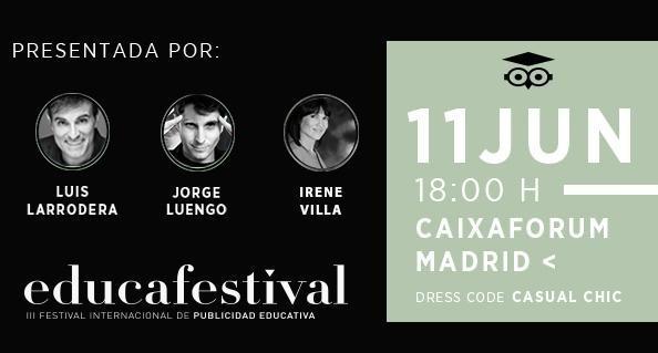educafestival, 2019. larrodera, caixaforum, programapublicidad,