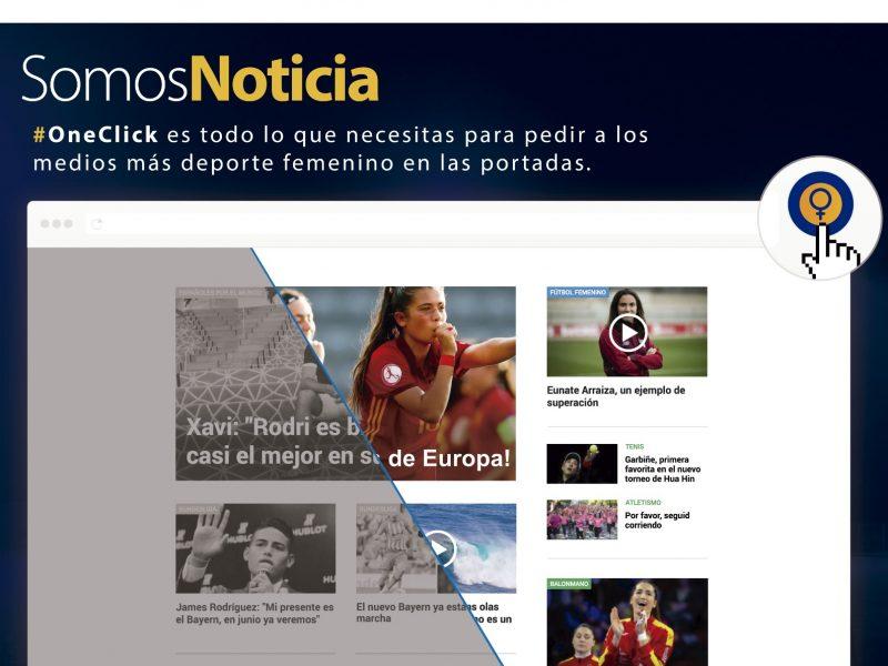 one click, somos noticia, visa, futbol, wysiwyg, programapublicidad,