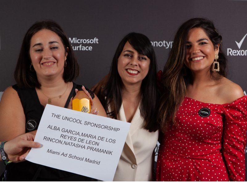 Alba García, María de los Reyes de León Rincón, Nstasha Pramanik, Miami Ad School , winners, D&AD, programapublicidad,