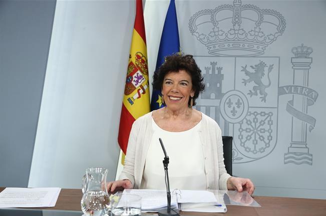 ministra de Educación y Formación Profesional , portavoz del Gobierno, Isabel Celaá, programapublicidad,