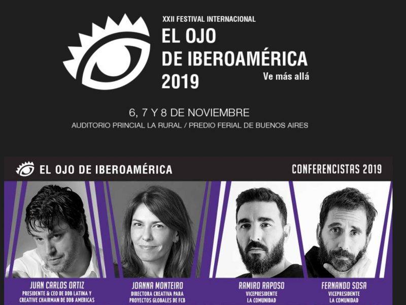 Juan Carlos Ortiz,Joanna Monteiro, Ramiro Raposo , Fernando Sosa , Speakers , El Ojo, 2019, programapublicidad,