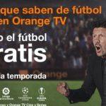 Simeone protagoniza la campaña de Orange para la nueva temporada de fútbol 2019-2020