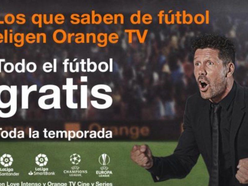 simeone, orange tv, futbol , gratis, programapublicidad,