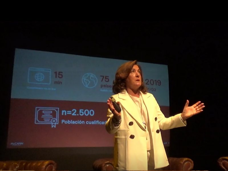 Cristina Vicedo, presentacion, estudio, FutureBrand, marca españa, programapublicidad,
