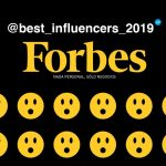 "Forbes presenta la lista ""The Best Influencers 2019"""