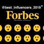 "Forbes presenta la lista ""The Best Influencers 2019"""