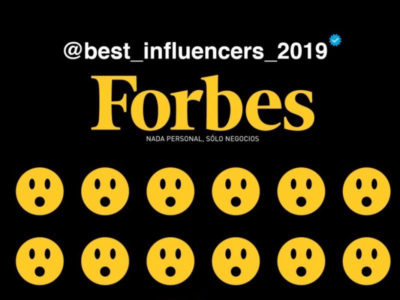 Forbes , presenta ,lista , The Best Influencers ,2019, programapublicidad,