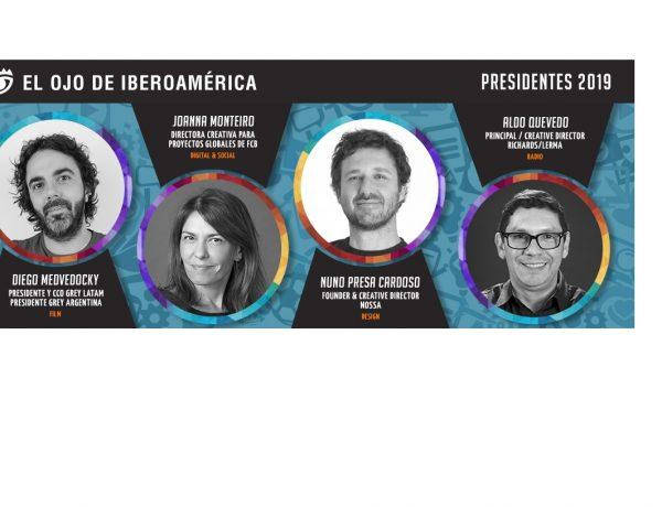 MEDVEDOCKY, MONTEIRO, PRESA CARDOSO , QUEVEDO, presidentes, jurados, Ojo, iberoamerica, programapublicidad,