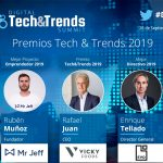 Mr. Jeff, EVO Banco, Vicky Foods, Parques Reunidos y Eyesynth ganadores de los premios Tech&Trends 2019.