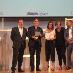 Xisela López, Cristina Burzako,  José María Rull, y Estrella Damm, Premios Club de Jurados Eficacia