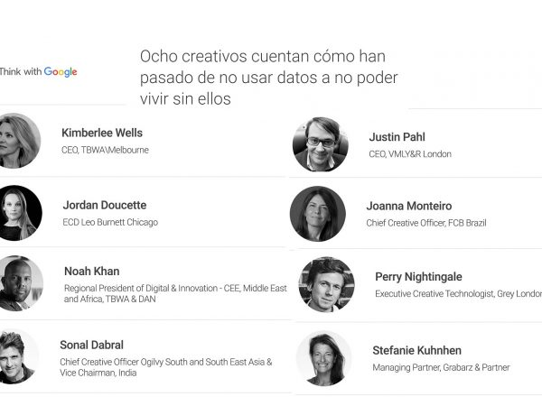 ocho creativos, think google, datos, programapublicidad,