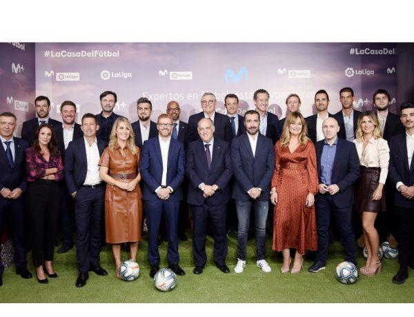 LaLiga , Movistar , presentan , alianza , elevar , fútbol , nueva dimensión, programapublicidad,