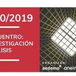 #EncuentroInvestigación, presenta la nueva asociación Aedemo y Aneimo en COAM,18 de octubre