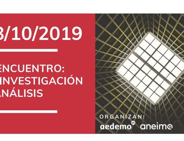 aedemo, aneimo, #EncuentroInvestigación, 18 octubre, 2019, programapublicidad,