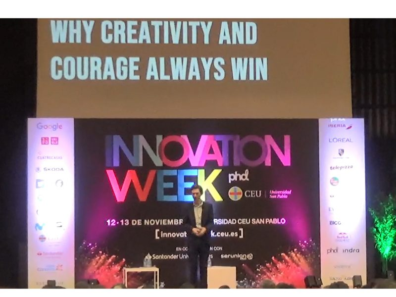 Malcolm Devoy, Director Estrategia , PHD EMEA, sobre , Purposeful Innovation, Why Creativity and Courage , Always Win , INNOVATION WEEK, programapublicidad