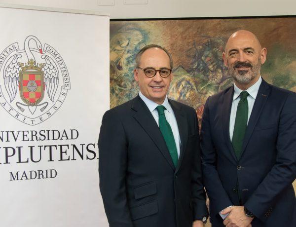 Pablo Juantegui, presidente ejecutivo , CEO , Grupo Telepizza , Joaquín Goyache Goñi, Rector , UCM, programapublicidad